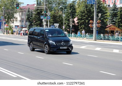 SARANSK, RUSSIA - JUNE 28, 2018: Mercedes-Benz Vito on city road.