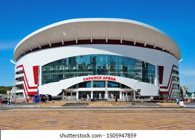 Saransk, Russia - June 6, 2019 - Saransk Sports Arena on the  Millennium Square in Saransk