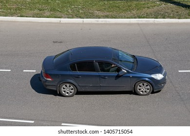 SARANSK, RUSSIA - MAY 18, 2019: Opel Astra H on city road.