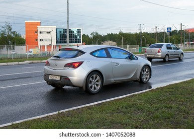 SARANSK, RUSSIA - MAY 22, 2019: Opel Astra on city road.