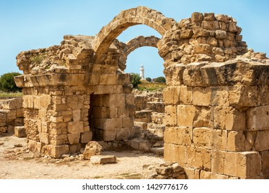 Saranta Kolones or Forty columns castle. Kato Paphos Archaeological Park. Paphos, Cyprus