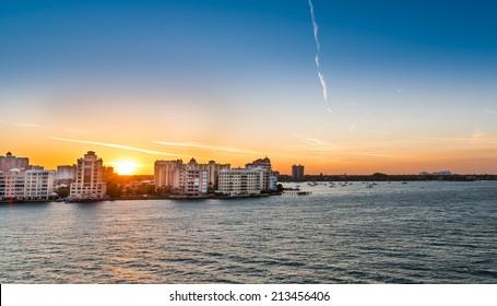 Sarasota, Florida Sunrise in Spring