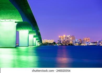 Sarasota, Florida, USA downtown city skyline.