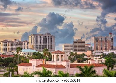 Sarasota, Florida, USA downtown skyline.