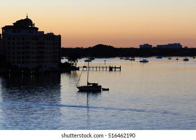 Sarasota Harbor pre dawn