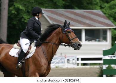 SARATOGA SPRINGS - June 13: Unidentified Rider Competes in the Historic Skidmore College Saratoga Classic Horse Show on June 13, 2009 in Saratoga Springs, NY.