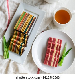 The Sarawak layer cake is traditionally served in Sarawak for religious and cultural celebrations / Kek Lapis aka Layered Cake / Now is being sold as edible souvenir besides the special occasions