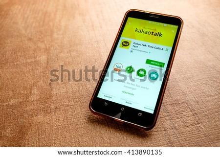 SARAWAK MALAYSIA May 1 St 2016 Kakaotalk Apps Stock Photo (Edit Now