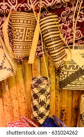 Sarawak's Ethnic crafts in Malaysia. It is made of rattan and pandanus leaves. Patterned abstract by nature.