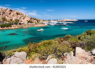 sardia italy spalmatore bay to la maddalena island