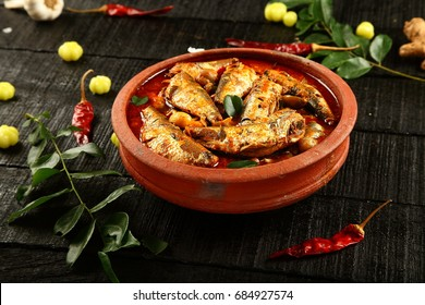 Sardine fish curry from Kerala cuisine.