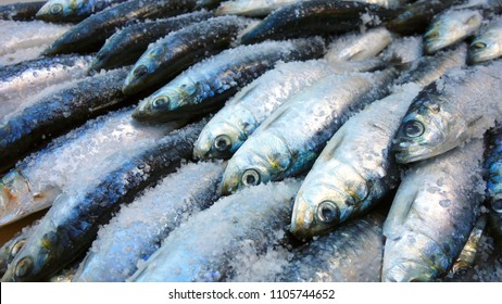 Sardines in street during the Saint Anthony Feast in Lisbon, Portugal