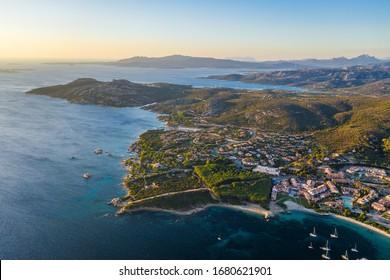 Sardinia: aerial view of Palau
