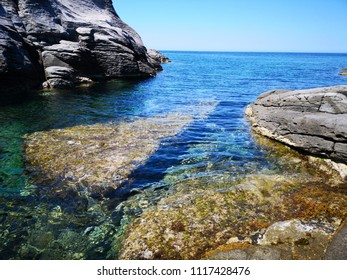 Sardinia Beach Cala Sapone at Sant'Antioco island