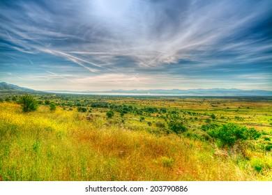 sardinia landscape in hdr tone