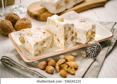 Sardinia nougat with honey and hazelnuts
