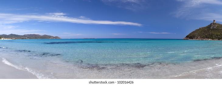 Sardinian sea (Porto Giunco beach, next VIllasimius village)Sardinia,Italy