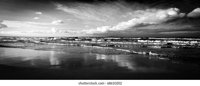 sardinian sea winter dramatic waves ecology