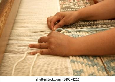 Sardinian weaving. Sardinia (Italy)