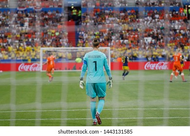 Sari Van Veenendaal of Netherlands during FIFA Women's World Cup France 2019 semi-final football match Netherlands vs Sweden on 3 July 2019 Groupama Stadium Lyon France