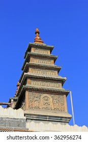 Sarira pagoda building landscape in the Five Pagoda Temple, Hohhot city, Inner Mongolia autonomous region, China