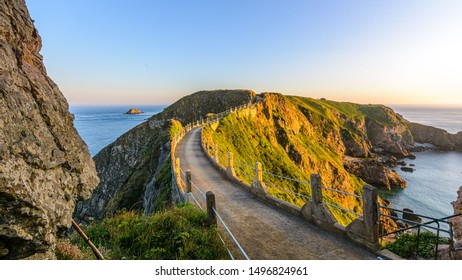 sark summer view coastline with cliffs la coupe