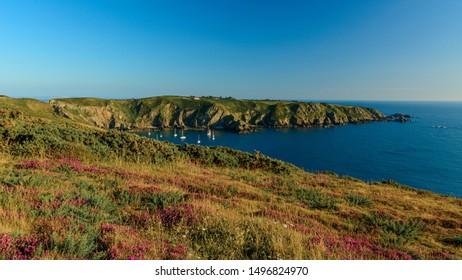 sark summer view coastline with cliffs