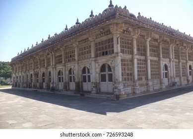 Sarkhej Roza is a mosque and tomb complex located in Makarba, Ahmedabad, Gujarat, which fused Islamic architectural influences from Persia with indigenous Hindu and Jain features.