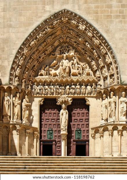 The Sarmental Door of Burgos Cathedral, Spain