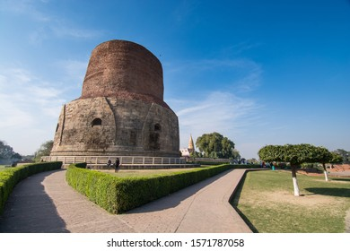 Sarnath/India-02/14/2019 : Sarnath is a famous place in Varanasi and it is the destination for cultures like Hindu, Buddha.