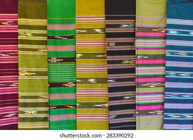 Sarong is Native cloth in Thailand.