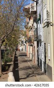 Sarrion street, Aragon, Teruel,Spain