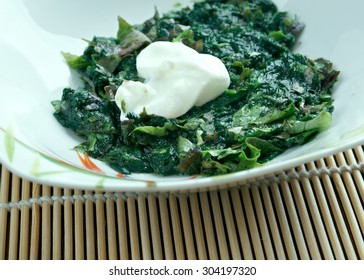 Sarson da saag -  vegetable dish in  Punjab regions of India and Pakistan