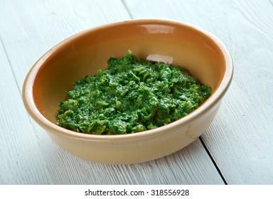 Sarson ka saag -  vegetable dish in Punjab regions of India and Pakistan