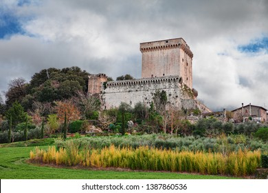 Sarteano, Siena, Tuscany, Italy: the medieval castle at the top of the ancient Tuscan village