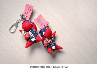Sarubobo The red human-shaped dolls, is a Japanese amulet, from the town of Takayama in Gifu Prefecture. Hida Regional, Japan. Used for Collectible Items, Gift, Decoration,
