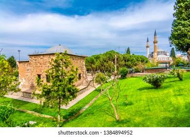 Saruhan Bey Tomb and Muradiye Mosque in Manisa, Turkey