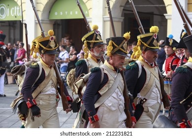 SARZANA, ITALY - SEPTEMBER 28: commemorative and historical fest of the Napoleonic Wars which is celebrated every two years in the Sarzana, Liguria Italy on September 28, 2013