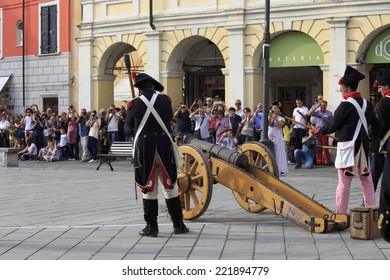 SARZANA, ITALY - SEPTEMBER 28: commemorative fest of the Napoleonic Wars which is celebrated every two years in the medieval town of Sarzana, Liguria Italy on September 28, 2013