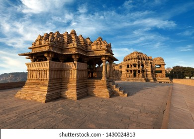 Sas Bahu ka Mandir (Sas Bahu Temple) located at inside Gwalior fort, Gwalior, Madhya Pradesh, India.