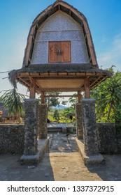 sasak sade village, lombok island, Indonesia - May 02, 2018: Traditional Sasak village in lombok island, Indonesia.