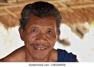 Sasak tribe man.3th November 2010. Sade village. Lombok Island. Indonesia. Asia.