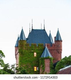 Sasebo, Japan - 10MAR2018: Dutch themed building at dutch theme part, Huis Ten Bosch, in Sasebo, Japan.