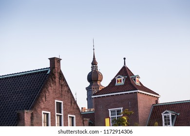 Sasebo, Japan - 10MAR2018: Dutch themed building at dutch theme park, Huis Ten Bosch, in Sasebo, Japan.