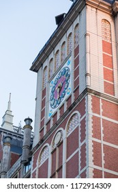 Sasebo, Japan - 10MAR2018: Unique clock tower at Huis Ten Bosch in Sasebo, Japan.