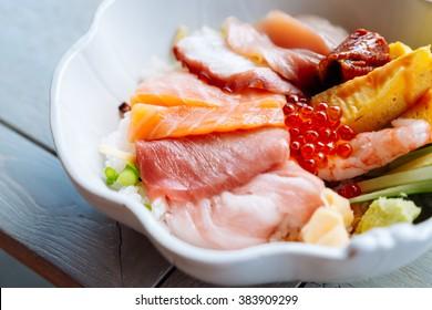 Sashimi bowl rice