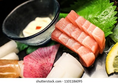 Sashimi in Dinner Set at Kyushu, Japan