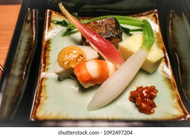 Sashimi in Kaiseki Set, Kyushu, Japan