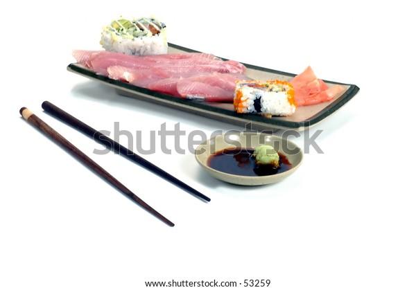 Sashimi meal Isolated