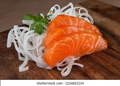 Sashimi Sake sushi with salmon